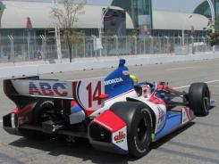 Mike Conway finished third in the No. 14 ABC Supply Honda at Sunday's IndyCar race in Toronto.
