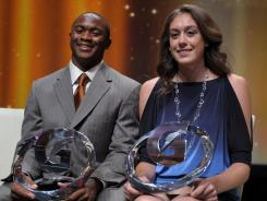 Johnathan Gray, a Texas recruit, and Breanna Stewart, a UConn recruit, were honored as the national prep athletes of the year.