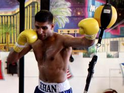 Amir Kahn will fight Danny Garcia this weekend in Las vegas in a 140-pound unification bout.