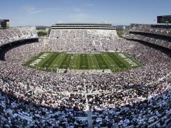 Penn State's Beaver Stadium is filled with more than 100,000 fans on many fall Saturdays.