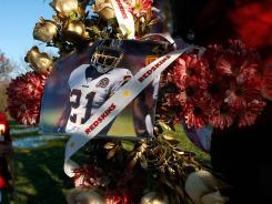 Sean Taylor is memorialized at Redskins Park in 2007.