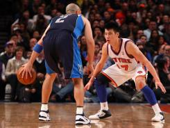 Knicks point guard Jeremy Lin, right, will get to learn from a veteran in Jason Kidd if he stays in New York.