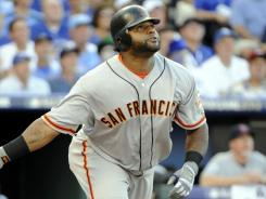 Giants' Pablo Sandoval hit a three-run triple in Tuesday's All-Star Game in Kansas City.