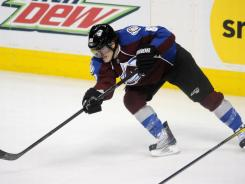 Peter Mueller had seven goals and nine assists in 32 games for the Colorado Avalanche last season.