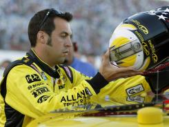 Sam Hornish Jr. prepares for the Coke Zero 400 at Daytona as A.J. Allmendinger's last-minute replacement.