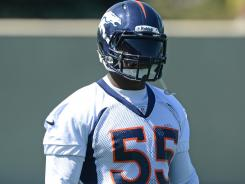 LB D.J. Williams has been with the Broncos since 2004.