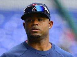"Boston Red Sox outfielder Carl Crawford says before a game against the New Hampshire Fisher Cats in Manchester, N.H., a heckling fan called him a ""monday."""