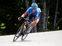 David Millar during Stage 12 of the 2012 Tour de France between Saint-Jean-de-Maurienne and Annonay-Davezieux.