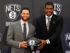 Deron Williams, left, and Joe Johnson give the Nets a formidable backcourt as the team prepares for its first season in Brooklyn.