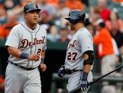 Miguel Cabrera and Jhonny Peralta were a combined 4-for-9 against the Orioles.