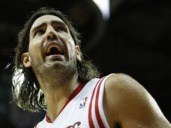 Luis Scola averaged 14.5 points and 7.7 rebounds in five seasons with the Rockets.