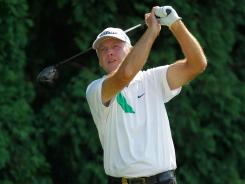 Lance Ten Broeck holds a 36-hole lead for the first time in his playing career.