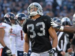 Oakland Raiders safety Tyvon Branch, the team's franchise player, agreed to a long-term deal with the team worth $26.6million over four years.