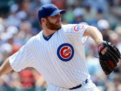 On the move? Cubs ace Ryan Dempster, pitching Saturday, has baseball's best ERA and could be a boost for a playoff contender. If he is traded, Dempster says he wouldn't rule out a return to the Cubs after the season.