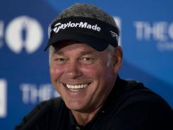 Darren Clarke of Northern Ireland hopes to find his game at the British Open, just as he did a year ago when he was the surprising winner.