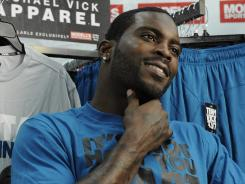 "Michael Vick, in Philadelphia last week to promote his clothing line, says he wants ""to live a low-key life and try to win a championship."""