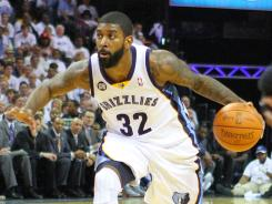O.J. Mayo averaged 12.6 points and 2.6 assists while coming off the bench in all 66 games for the Memphis Grizzlies in the 2011-12 season.
