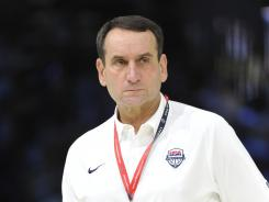 "Court commander: Mike Krzyzewski preaches team first, and the U.S. men's basketball team follows suit. ""Coach K can do whatever he wants, and guys are going to make sure they make plays in order to help the team,"" LeBron James says."