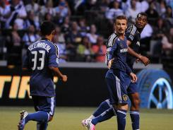David Beckham and Jose Villarreal scored for the Galaxy in the second half to rally back from a 2-0 deficit.