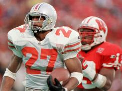 Eddie George won the Heisman Trophy while playing for Ohio State.
