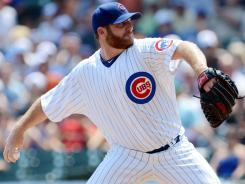 Cubs' Ryan Dempster enters Friday's game against the Cardinals with a 33-inning scoreless streak.