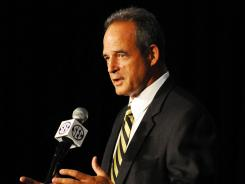 Missouri football coach Gary Pinkel speaks this at the 2012 SEC media days, where he defended former Penn State coach Joe Paterno for his involvement in the Jerry Sandusky child abuse case.