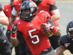 Arkansas State's Michael Dyer participated in spring practice after transferring from Auburn.