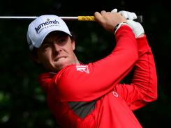 Rory McIlroy of Northern Ireland struggled throughout the second round with a 5-over 75.