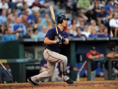 Twins first basemen Joe Mauer has a career .359 batting average against the Royals at Kauffman Stadium.