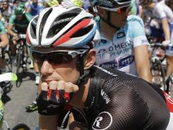 Cycling's governing body UCI says Frank Schleck of Luxembourg tested positive for a banned diuretic during the Tour de France.