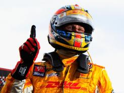 Ryan Hunter-Reay won the pole position for the Izod IndyCar Series race at Edmonton, Alberta.