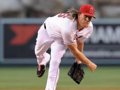 Los Angeles Angels starting pitcher Jered Weaver improved to 7-0 at home with a 0.67 ERA.