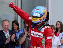 Fernando Alonso drove his Ferrari to his third victory on the Formula One circuit this season.