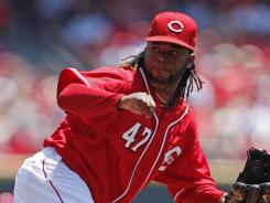 Reds' Johnny Cueto (12-5) matched his single-season career high in wins and lowered his ERA to 2.23.