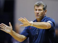 U.S. women's Olympic basketball coach Geno Auriemmawas happy his team was tested Sunday againt Turkey.