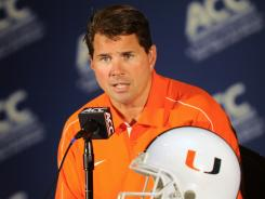 "Miami (Fla.) head coach Al Golden declined to discuss in detail allegations in a Yahoo Sports article, telling reporters Monday at ACC media day, ""We are moving forward."""
