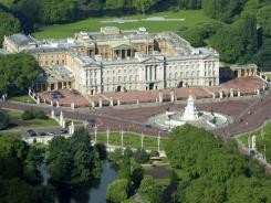 Aerial view of Buckingham Palace.