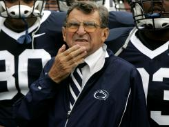 Penn State coach Joe Paterno was fired in November following revelations of sexual abuse by former assistant Jerry Sandusky.