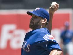 Colby Lewis is 6-6 with an ERA of 3.42 this season.