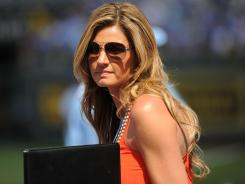 Erin Andrews says 'there was chemistry' in her audition with Eddie George and Joey Harrington for Fox's college football pregame show.