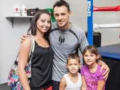 Robert Guerrero, wife Casey, and children Savannah, 7, and Robert, 5.