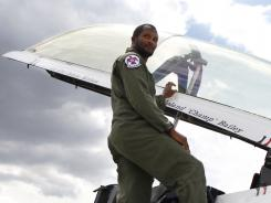 Broncos CB Champ Bailey had to don a different uniform for his Thunderbirds flight.