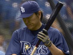 Hideki Matsui was hitting .147 in 95 at-bats before he was cut.