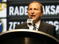 NHL Commissioner Gary Bettman at the draft in June.