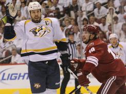 Nashville Predators defenseman Shea Weber and Phoenix Coyotes right wing Shane Doan know each other.