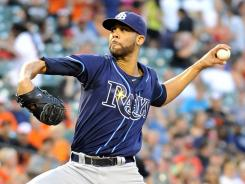 Rays starter David Price gave up one run and struck out 10 in seven innings to earn his major league-leading 14th win.