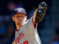 Stephen Strasburg reached double digits in strikeouts for the fourth time this season