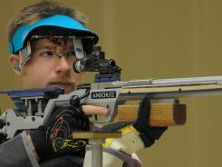 Shooter Matt Emmons will go for his second gold medal when the London Olympics begin Saturday. He has gotten over two near-misses for more gold in Athens and Beijing.