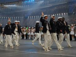 Not all of the athletes can or do march in the opening ceremony.