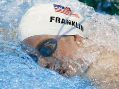 Missy Franklin of the USA gets in practice session Thursday at the Aquatics Centre.